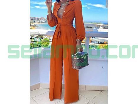 Full Length Fashion Plain Slim High Wais...