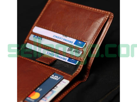 Foxhackle Slim Handmade Leather wallet, ...