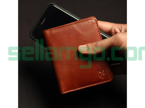 Foxhackle Slim Handmade Leather wallet, ...
